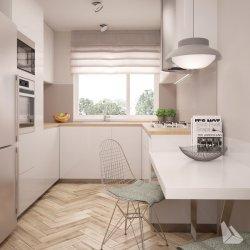 Jak wybrać idealny blat do białej kuchni? Doradza projektant wnętrz z Krakowa