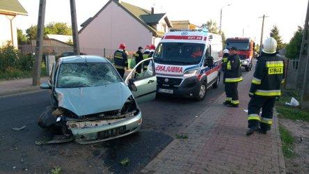 Dwa samochody osobowe zderzyły się w Wolborzu