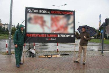 Protestowali przeciwko aborcji