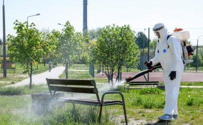 W Bełchatowie ponownie dezynfekują miejsca publiczne