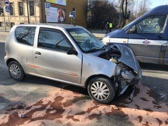 Wypadek na skrzyżowaniu w centrum Piotrkowa