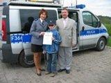 Tomaszów: Policjanci spełnili marzenie niewidomego chłopca