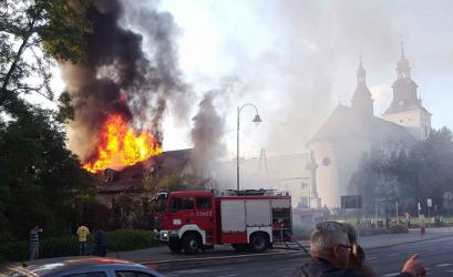 Pożar pustostanu przy Narutowicza
