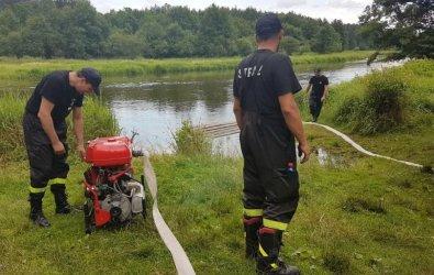 Gdyby doszło do pożaru... Strażacy i leśnicy skontrolowali punkty czerpania wody