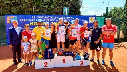 Blanka Wasiela i Igor Minkner zwycięzcami tenisowego festiwalu krasnali