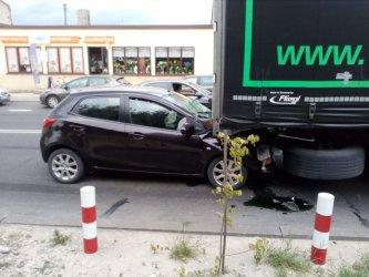Zderzenie na DK12 w Sulejowie