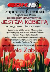 GOKiS w Moszczenicy zaprasza na Dzień Kobiet