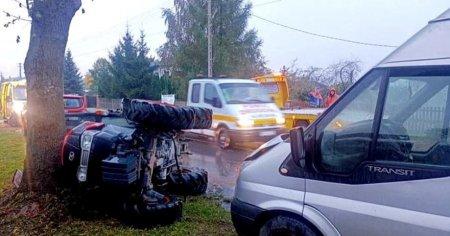 Traktorem wjechał w busa