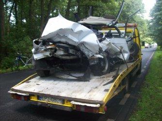 Dwie osoby ranne w wypadku na Wolborskiej