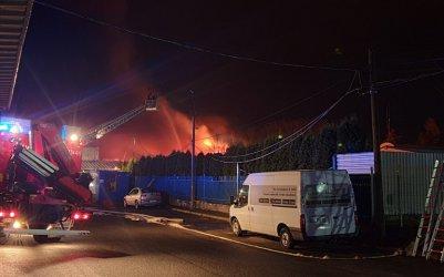 Pożar magazynów przy Glinianej