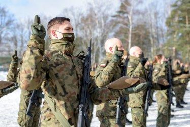 Przysięga wojskowa w rocznicę utworzenia Armii Krajowej