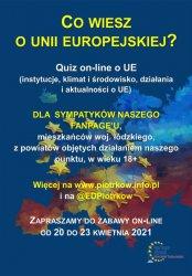 """Konkurs on-line """"Co wiesz o Unii Europejskiej?"""""""