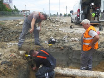 Piotrków Trybunalski: wyciek gazu podczas budowy ronda