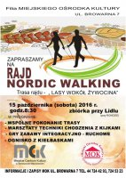 Nordic walking w lasach wokół Żywocina