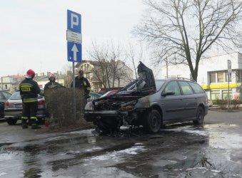Pożar samochodu w Piotrkowie