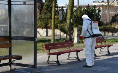 Dezynfekcja na przystankach w Piotrkowie