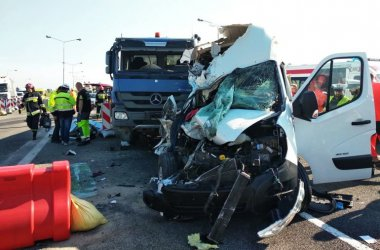 Sześć osób rannych w wypadku na A1