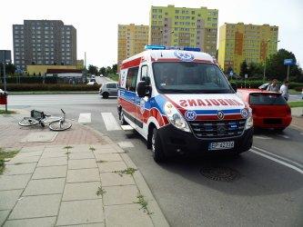 Piotrków: Rowerzysta w szpitalu