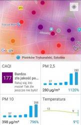 Tragiczna jakość powietrza w Piotrkowie Trybunalskim!