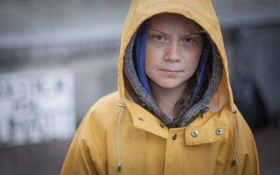 Greta Thunberg przyjechała do Kleszczowa, by nagrać film o Elektrowni Bełchatów