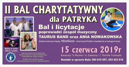 Zapraszamy na II Bal charytatywny dla Patryka
