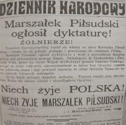 Przewrót majowy i jego konsekwencje w prasie regionu piotrkowskiego