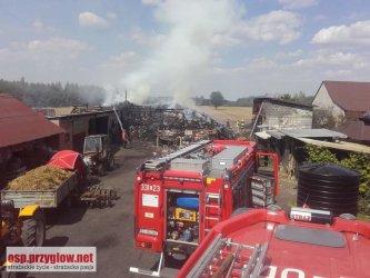 Pożar stodoły w gminie Rozprza
