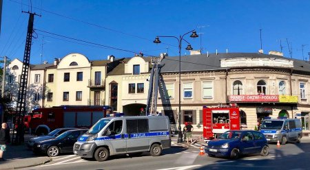 Alarm pożarowy przy Toruńskiej