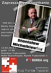 Michalkiewicz opowie o studniówce Beaty Szydło