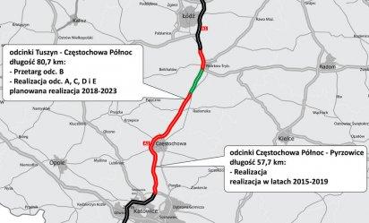 Pięć firm zainteresowanych budową A1 na odcinku Piotrków - Kamieńsk