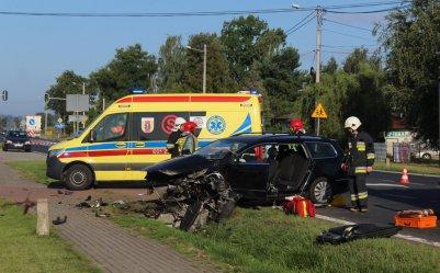 Wypadek w Gomulinie - ranny 59-latek