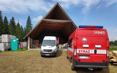 Strażacy z Rozprzy pojechali z darami do Nowej Białej