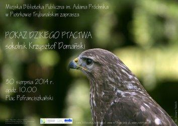 Pokaz dzikiego ptactwa na placu Pofranciszkańskim