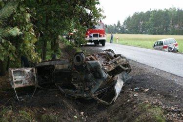 pow. tomaszowski: 3 osoby ranne w wypadku