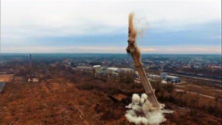 Runął komin Wistomu [VIDEO]