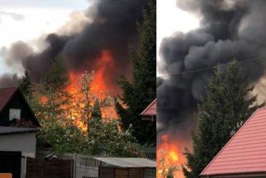 Pożar budynku gospodarczego w Piotrkowie