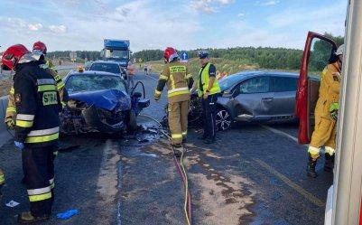 Wypadek na autostradzie A1. Droga całkowicie zablokowana