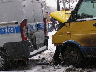 Słowackiego zablokowana – przy PKO zderzył się bus, autobus i radiowóz
