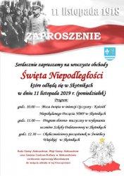 Obchody święta niepodległości w gminie Aleksandrów