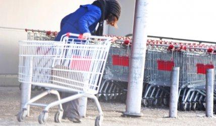 Ukradli wózki z supermarketu. Chcieli je sprzedać
