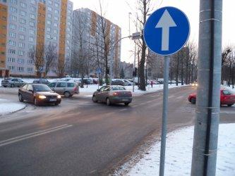 Słowackiego/Zamenhofa: Za łamanie nakazu będziemy karać