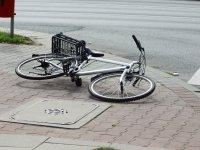 Potrącenie rowerzysty w Grabicy