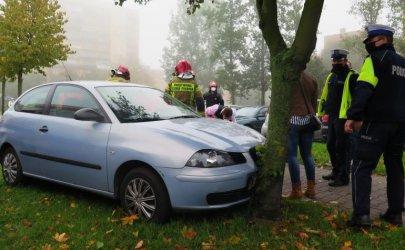 Kierowca seata uderzył w drzewo