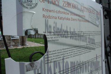 Kto zniszczył wystawę o Katyniu?