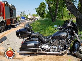 Dwa motocykle i osobówka zderzyły się w Przygłowie
