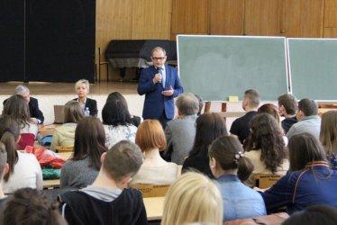 Studenci słuchali o funduszach unijnych