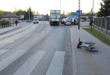 Pijany rowerzysta w szpitalu