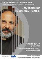 Będzie spotkanie z księdzem Isakowiczem-Zaleskim
