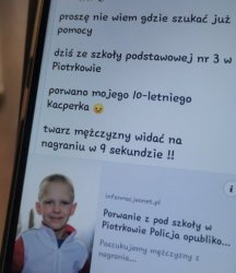 Porwanie dziecka w Piotrkowie. Uwaga to fake news!
