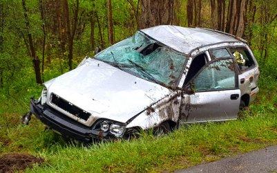 Wypadek w Cieszanowicach. Kierowca był nietrzeźwy